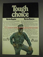 1977 U.S. Marines Ad - Tough Choice