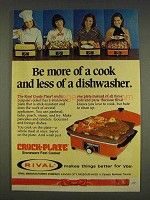 1977 Rival Crock-Plate Ad - Be More of a Cook