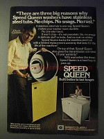 1977 Speed Queen Washer Ad - Chuck Connors - Three Reasons