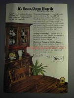 1977 Sears Open Hearth Dining Room Furniture Ad