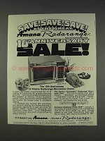 1977 Amana Model RR-9 Microwave Oven Ad - Save