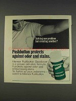1977 Mennen Pushbutton Deodorant Ad - Solving Problem