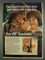 1977 Off! Towelettes Ad - Insect Repellent