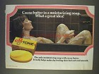 1977 Tone Soap Ad - Cocoa Butter Great Idea