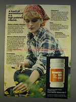 1977 Stresstabs 600 Vitamins Ad - Touch of Womanhood