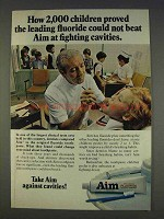 1977 Aim Toothpaste Ad - Fighting Cavities