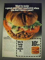1977 Underwood Roast Beef Spread Ad - Great Sandwich