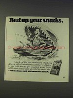1977 Slim Jim Meat Snacks Ad - Beef Up Your Snacks