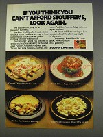 1977 Stouffer's Ad - Creamed Chipped Beef