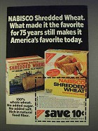 1977 Nabisco Shredded Wheat Ad - Favorite For 75 Years
