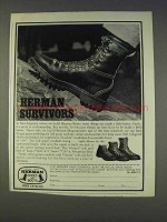 1977 Herman Boots Ad - Survivors