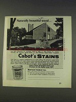 1977 Cabot's Stains Ad - Naturally Beautiful Wood