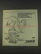 1977 Oasis Water Cooler Ad - A Spoonbill Named Gil