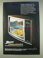 1977 Zenith The Ellipse IV SJ1951W Television Ad