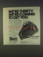 1977 Thrifty Rent-a-Car Ad - Coming To Get You