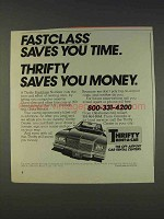 1977 Thrifty Rent-a-Car Ad - Fastclass Saves You Time