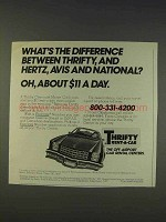 1977 Thrifty Rent-a-Car Ad - What's The Difference
