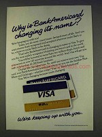 1977 VISA Credit Card Ad - BankAmericard Changing
