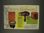 1977 Sunbeam Ad - Fast Fryer; Swing-Aire 1000 Dryer
