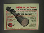 1977 Burris Scopes Ad - New HiLume Lenses