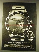 1976 Rolex Submariner Watch Ad - Peter Benchley
