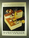 1976 Shaw-Walker Modular Work Stations Ad