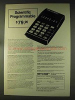 1976 Sinclair Scientific Programmable Calculator Ad