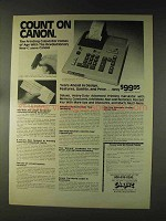 1976 Chafitz Canon Canola P1010-C Calculator Ad
