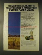 1976 Kraft Safflower Oil Ad - Little Plant in Arizona