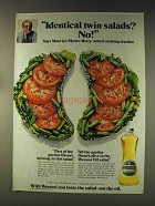 1976 Wesson Oil Ad - Identical Twin Salads? No!