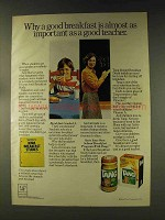 1976 Tang Drink Mix Ad - Important as Good Teacher