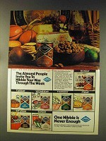 1976 Blue Diamond Almonds Ad - Nibble Through Week