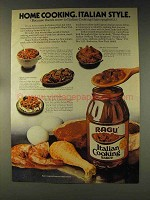 1976 Ragu Italian Cooking Sauce Ad - Home Cooking
