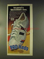 1976 Pro-Keds Shoes Ad - Nate Archibald's Shoes