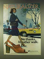 1976 Naturalizer Nautilus Shoes Ad - I'd Rather Walk