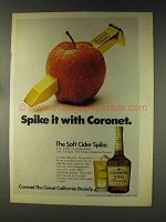 1976 Coronet Brandy Ad - Spike It With Coronet