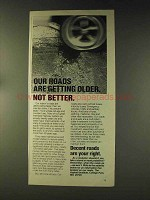 1976 The Asphalt Institute Ad - Roads Getting Older