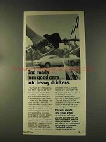 1976 The Asphalt Institute Ad - Bad Roads Good Cars