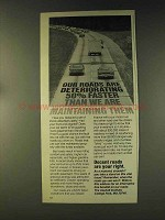 1976 The Asphalt Institute Ad - Roads Are Deteriorating