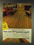 1976 Sears Footlights Supreme Carpeting Ad