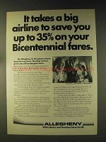 1976 Allegheny Airlines Ad - Bicentennial Fares