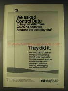 1976 Control Data CDC Cyber 172 Computer System Ad