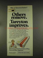 1976 Tareyton Cigarettes Ad - Improves