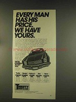 1976 Thrifty Rent-a-Car Ad - Every Man Has Price