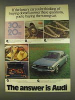 1976 Audi 100LS Car Ad - Answer These Questions