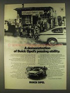 1976 Buick Opel Ad - Demonstration of Passing Ability