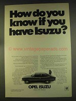 1976 Buick Opel Isuzu Ad - How Do You Know