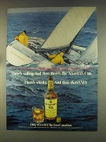 1976 Seagram's V.O. Whisky Ad - Sailing America's Cup