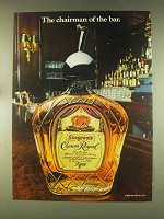 1976 Seagram's Crown Royal Whisky Ad - Chairman of Bar