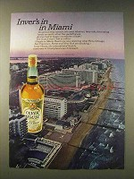 1976 Inver House Scotch Ad - In In Miami